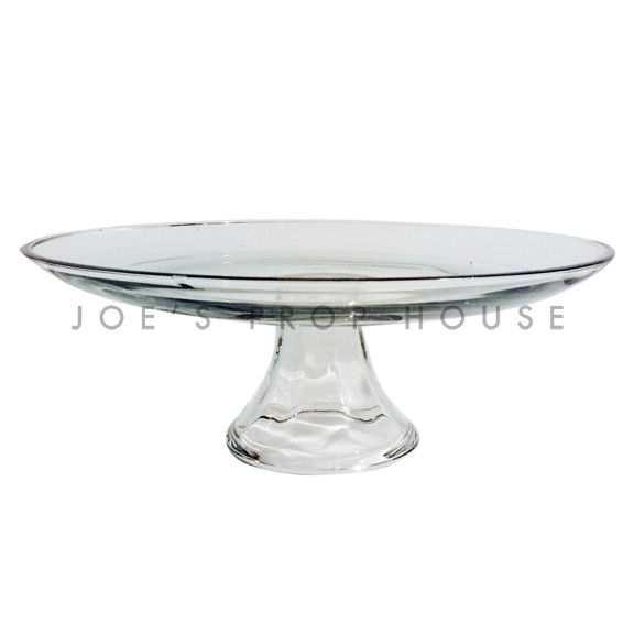 Nicole Clear Round Glass Cake Stand