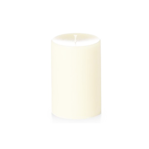 Unscented Ivory Pillar Candles 4in x 6in