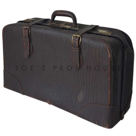 Geremiah Leather Luggage Dark Brown