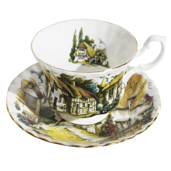 Countryside Teacup and Saucer