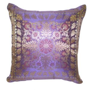 Jordan Satin Accent Pillow Purple