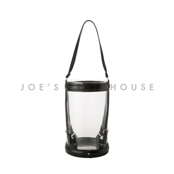 Leather Strap Hurricane Lantern Medium