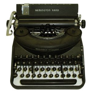 Remington Rand Manual Typewriter Black