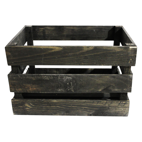 Wooden Crate Medium Dark Brown
