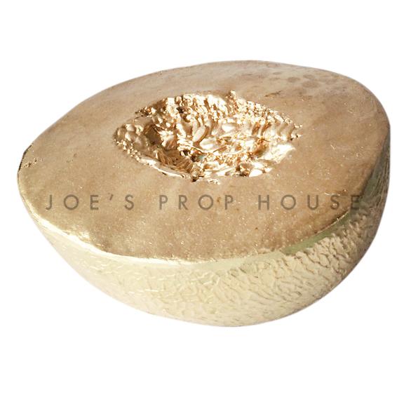 Artificial GOLD Half Cantaloupe