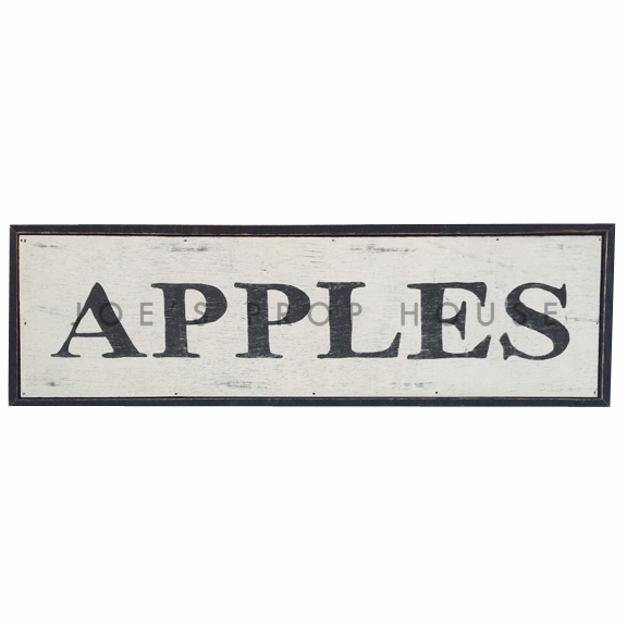 Apples Wooden Sign