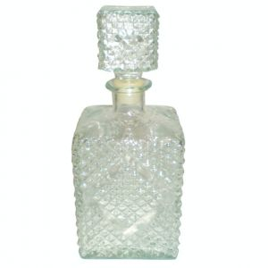 Chara Clear Diamond Cut Crystal Decanter