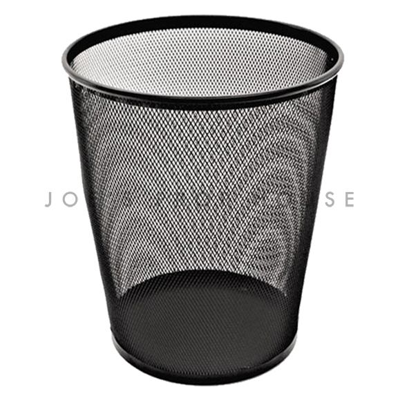Metal Mesh Waste Basket Black