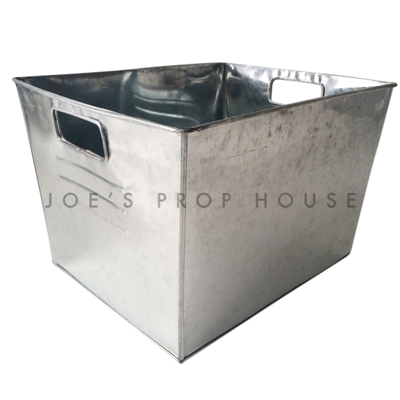 Rectangular Galvanized Metal Bucket LARGE