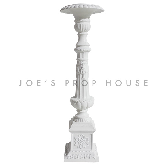 Baroque Candlestick Large White