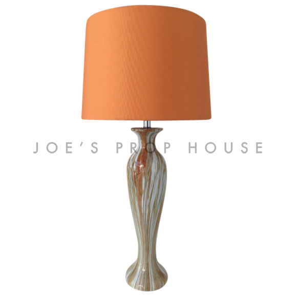 Ellie Orange Ceramic Table Lamp