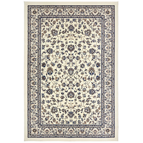 Ophelia Ivory + Blue Floral Rug W6.5ft x L10ft