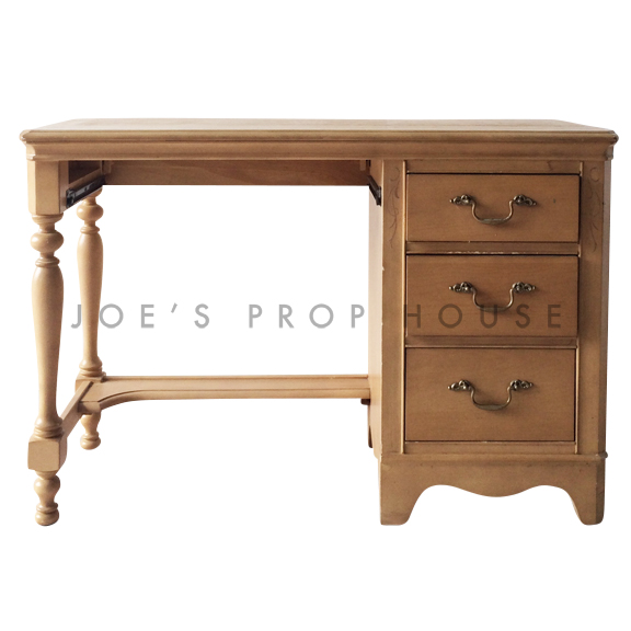 Alicia 3 Drawer Desk Beige
