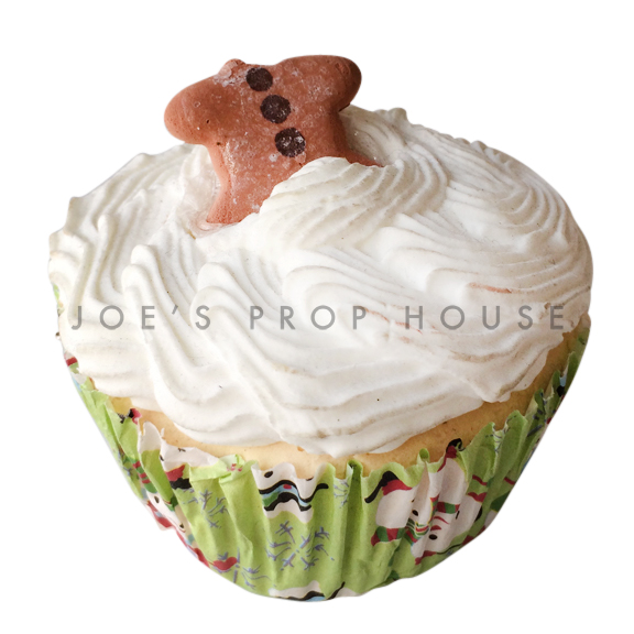 Headless Gingerbread Man Vanilla Cupcake