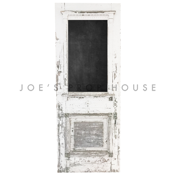 Llyod Distressed Self-Standing Door w/Chalkboard Insert