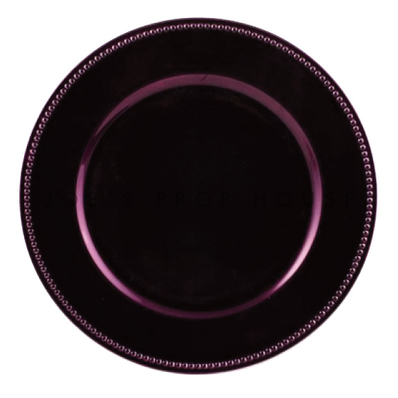Eggplant Beaded Charger Plate