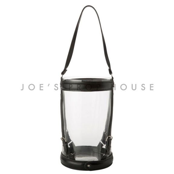 Leather Strap Hurricane Lantern Large