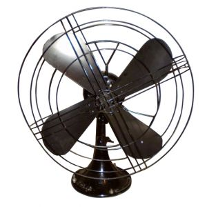 Vintage Electric Fan Black