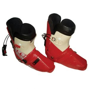 Downhill Ski Boots Red