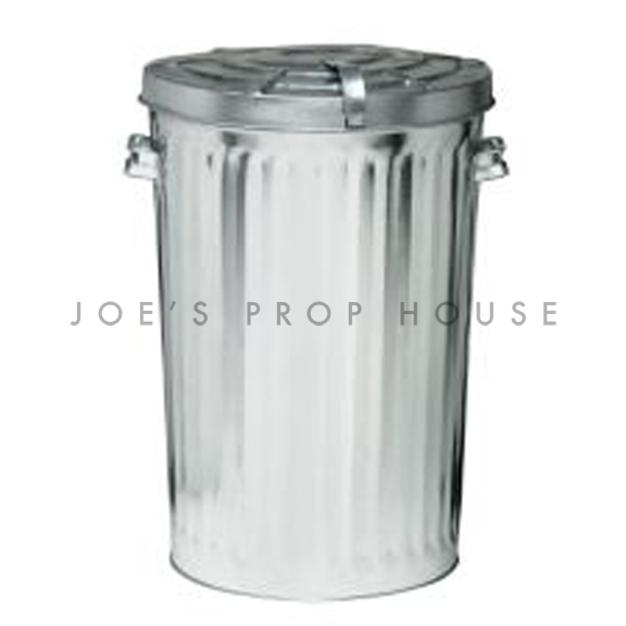 Metal Trash Can w/Lid