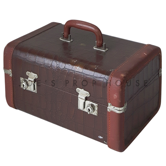 Scofield Croc Hardshell Vanity Luggage Brown