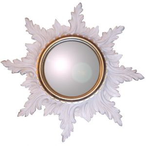 Isadora Starburst WALL Mirror White