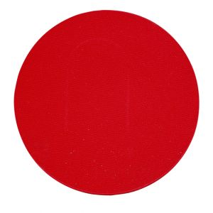 Tapis Rond Rouge $5.00