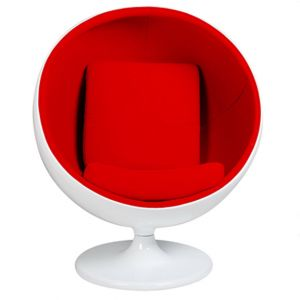 Retro Ball Chair Red