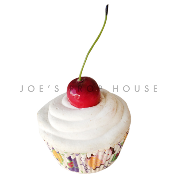Vanilla Cream Cupcake w/Cherry on Top