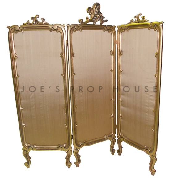 Ornate Room Divider Gold