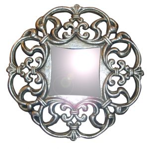 Gabriella Ornate WALL Mirror Silver