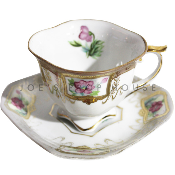 Gillian Floral Teacup and Saucer