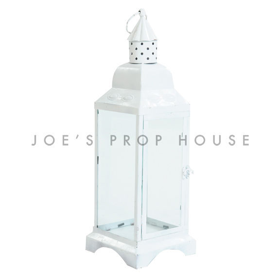 Metal Cottage Lantern White