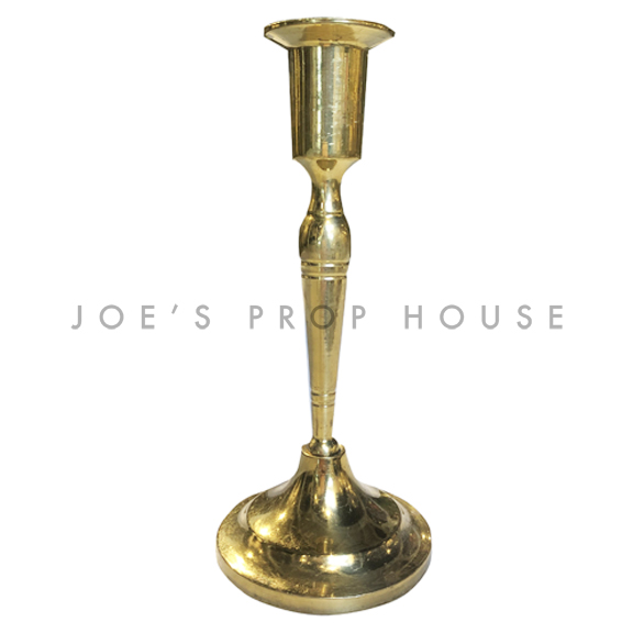 Reesa Tapered Brass Candlestick H7.5in