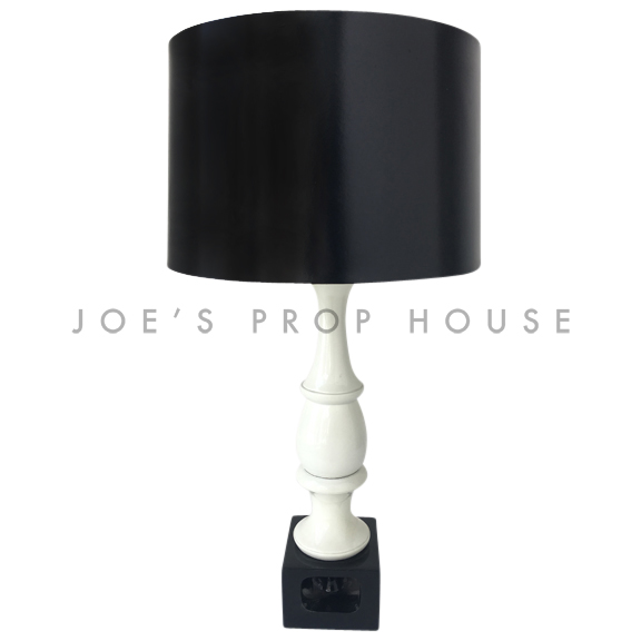 Deker Black and White Table Lamp