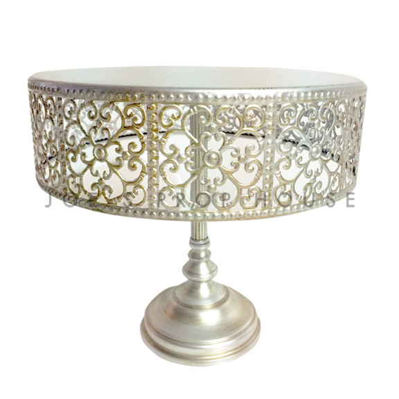 Charlotte Round Metal Cake Stand D10.5in