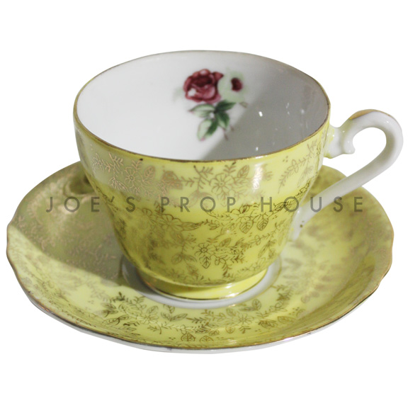Hollander Yellow Teacup and Saucer