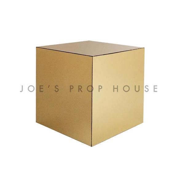 Mirror Gold Cube Riser W6in x H6in x D6in