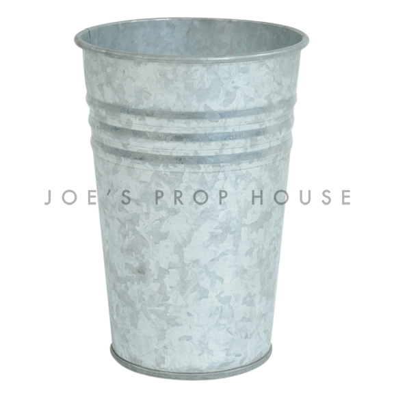 Three Stripe Galvanized Metal Bucket Short