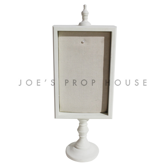 Padded Rectangular Pedestal Message Board Ivory