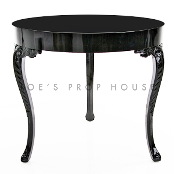 Large Regency Round Table Black