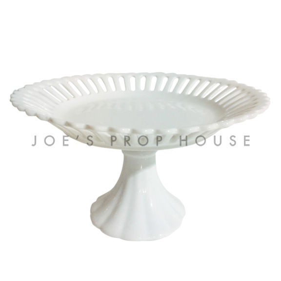 Laurie Round Porcelain Cake Stand White