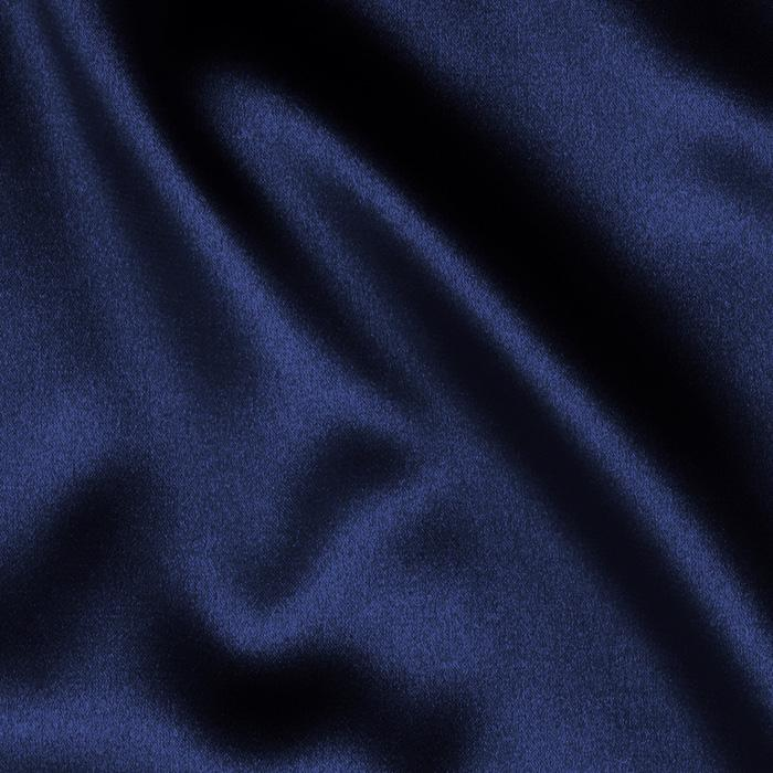 Navy Blue PEAU DE SOIE Tablecloth Round 120in