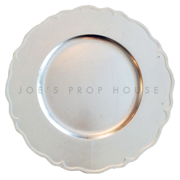 Silver Scallop Charger Plate