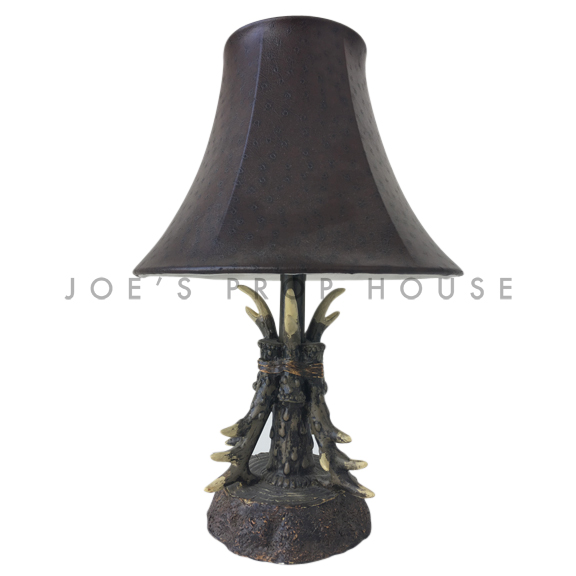 Antler Table Lamp Brown