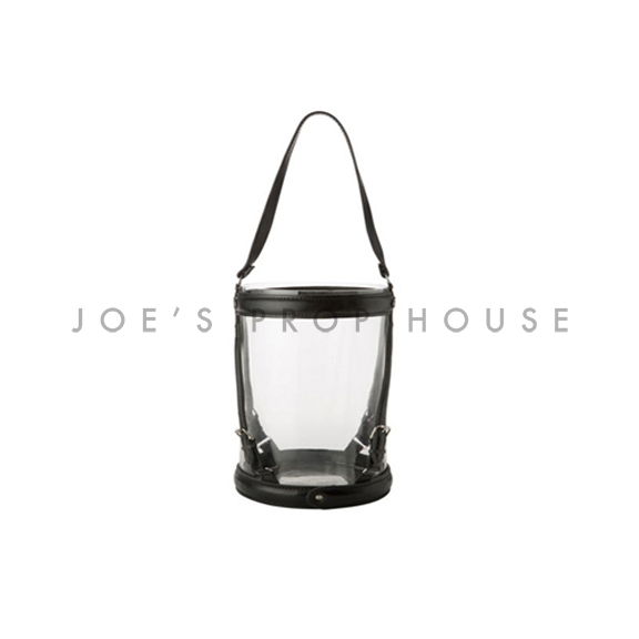 Leather Strap Hurricane Lantern Small