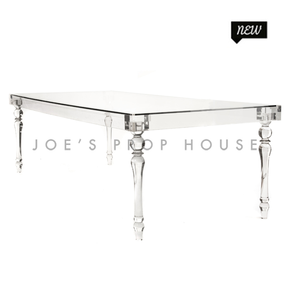 Jules Clear Lucite Glasstop Table
