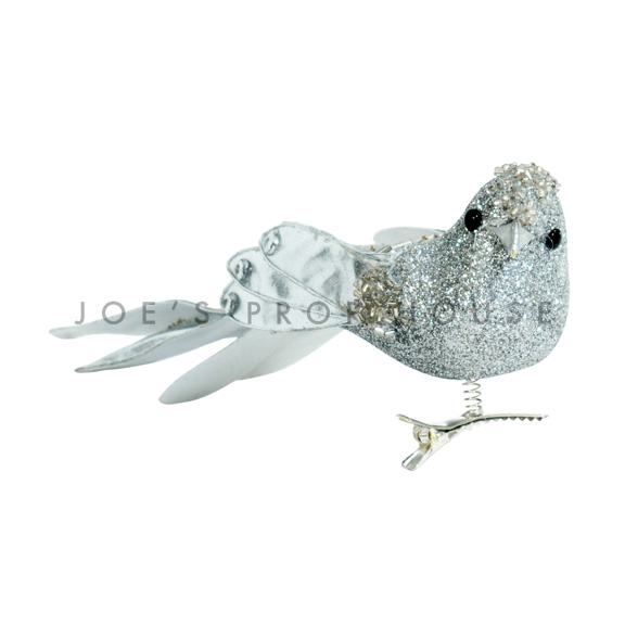 Silver Glitter Bird