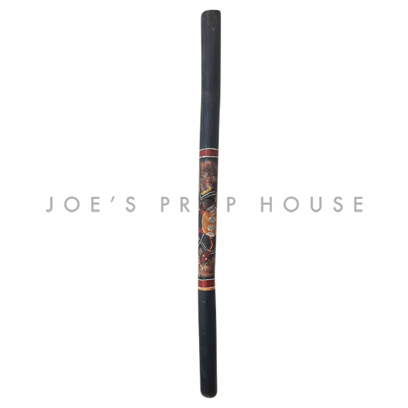 Shukura Traditional Hand Painted Bamboo Digeridoo Black