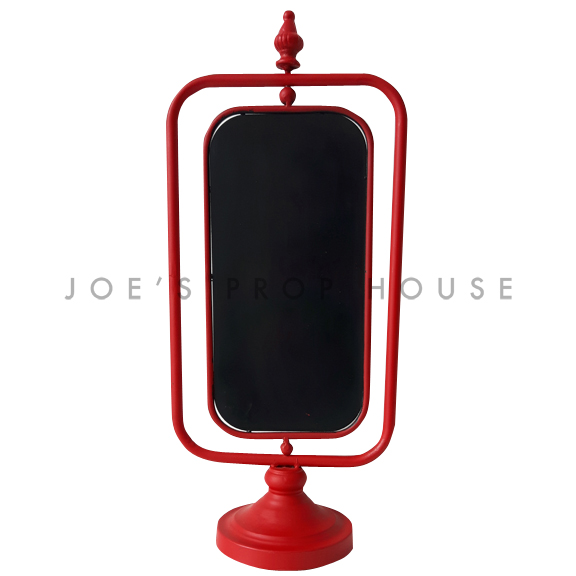 Metal Turnstyle Chalkboard Stand Red